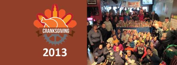 Cyclists raise $2,000 in food at 2nd Annual Cranksgiving